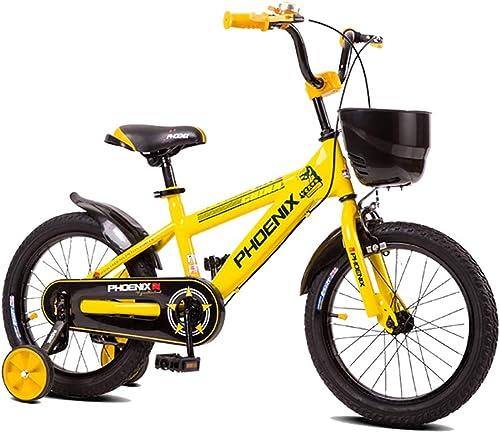 tomar hasta un 70% de descuento GAIQIN GAIQIN GAIQIN Durable Bicicleta de Bicicleta para Niños 2-3-4-5-7-8-10 años de Edad Freno de Mano de Niño y niña, Control de Seguridad (con Canasta) (Color   amarillo, Tamaño   16inch)  venta caliente en línea