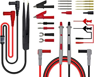 D DOLITY Electronic Test Leads Kit, Digital Multimeter Leads with Alligator Clips, Replaceable Probes Tips, Test Hooks and...