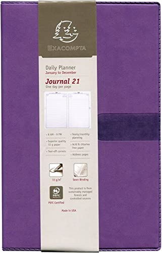 Quo Vadis 2019 Journal 21 Yearly Planner, Texas Cover, 5.25 by 8.25 inches, lila