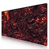 Anpollo Extended Large Speed Gaming Mouse Pad Gaming XXL Large Carpet Mouse Mat Pad 35.4x15.7x0.12inches Dimensions with Non-Slip Rubber-Lava