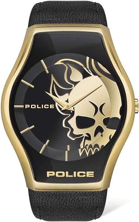 Orologio da uomo analogico al quarzo, taglia unica, colore: nero police 32015077 PEWJA2002301