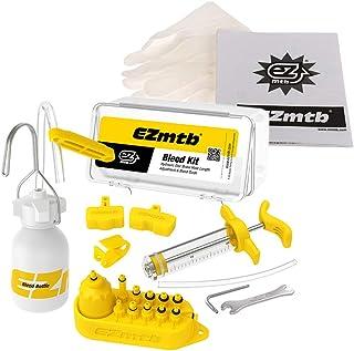 EZ Mountain Bike Hydraulic Disc Brake DOT Mineral Oil Bleed Kit for AVID Formula Hanyes Echo Shimano Tekro HS33 Magura Nutt (Normally Combination)