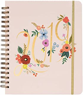 Bouquet Weekly 17 Month 2018-2019 Jumbo Spiral Planner with Stickers by Rifle Paper Co.