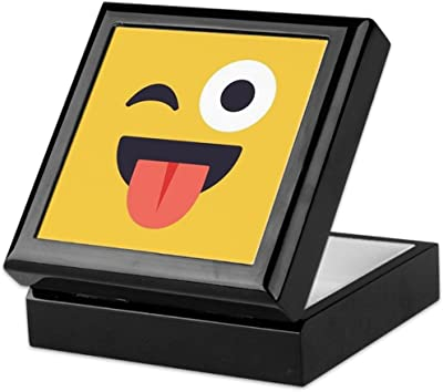 Amazon.com: CafePress Happy Emoji Face Keepsake Box ...