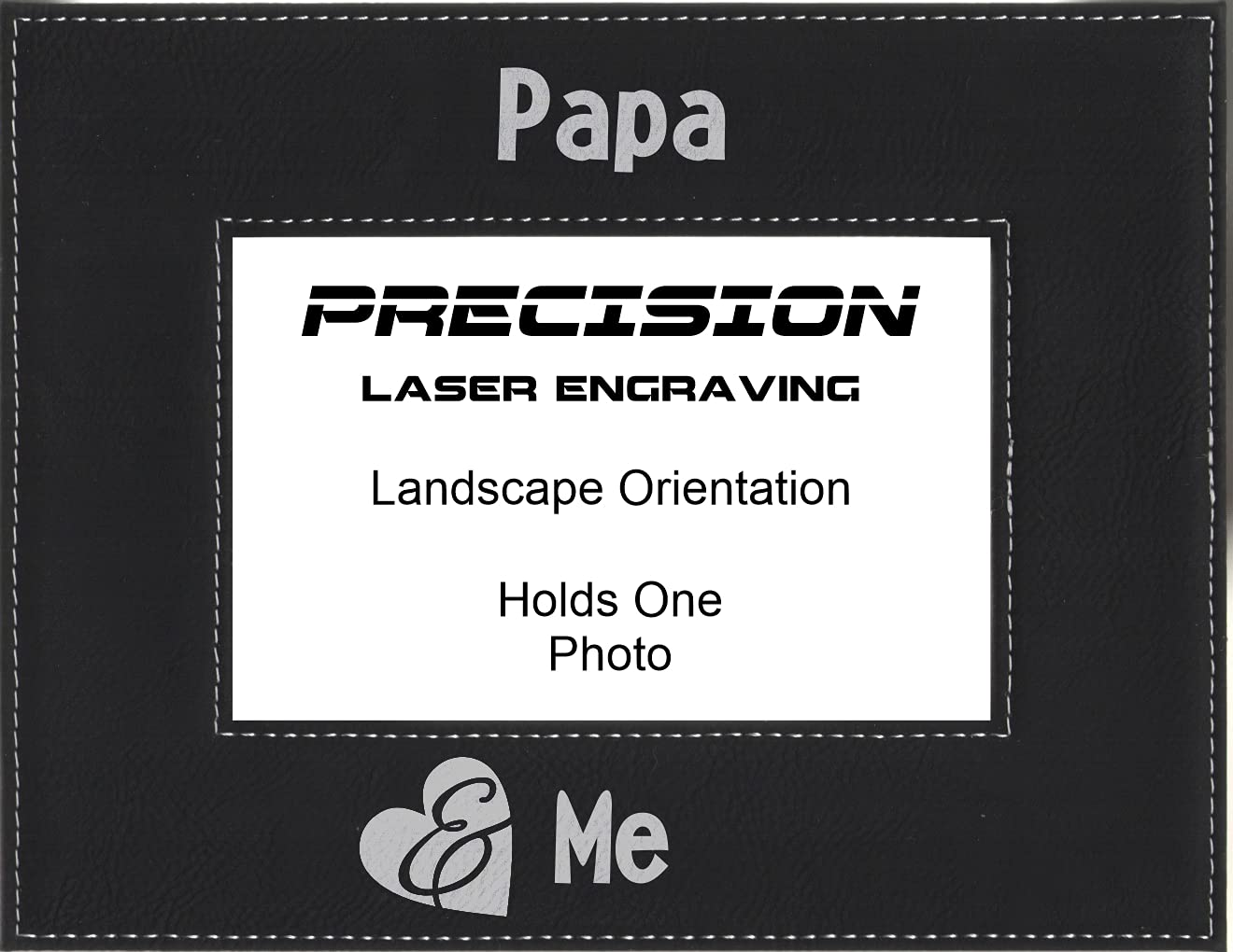 Grandpa Papa Gift OFFicial mail order and Me Ranking TOP15 Frame Leatherette Engraved Picture
