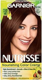 Garnier Nutrisse Nourishing Color Creme Deep Chestnut Brown [434] 1 ea (Pack of 3)