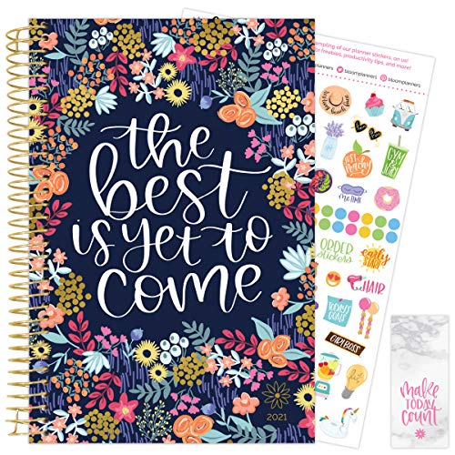 """bloom daily planners 2021 Calendar Year Day Planner (January 2021 - December 2021) - 6"""" x 8.25""""..."""