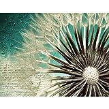 Fototapeten 396 x 280 cm Blumen Pusteblume | Vlies Wanddekoration Wohnzimmer Schlafzimmer | Deutsche Manufaktur | Türkis 9023012b