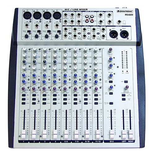 Omnitronic 10040100 RS-1222 Recording-Mixer