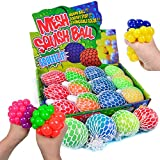 Mesh Squishy Balls 12 PCS Grape Squeeze Balls with Exclusive Sewn Mesh Color Changing Stress Balls,Anti-Anxiety Toys, Relieve Pressure Balls Sensory Calm Focus Toys,Stress Relief Ball for Girls Boys
