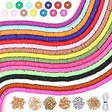 Tacobear Juguete de Cuentas Coloridas Abalorios Hacer Pulseras Collar de Bricolaje Cuentas de Arcilla de Joyas DIY Manualidad Fabricación de Joyas para Niños Adultas