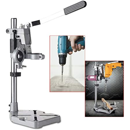 Drill Press Stand Universal Bench Workstation Clamp Drill Press Holder Adjustable Multi-functional Double-Hole Grinding Hanger