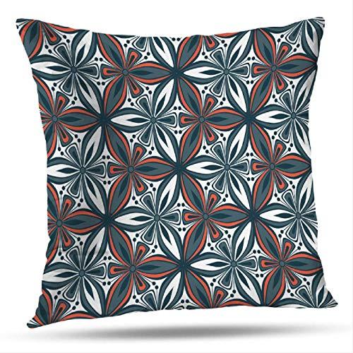 N\A Exotic Geometry Flowers Kissenbezug im Kissenbezug mit Reißverschluss Home Modischer Kissenbezug für doppelseitiges Sofa-Print