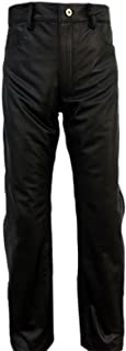 MensPolice StylePremium Leather Pants Breeches Leather Jeans Trousers