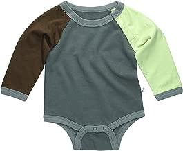 Babysoy Organic Mix Color Long Sleeve Boy Onesie/Bodysuit
