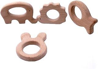 Coskiss La dentición de juguete de madera elefante