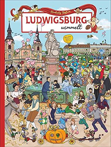 Wimmelbuch: Ludwigsburg wimmelt. Liebevolle Zeichnungen von Stadt, Blühendem Barock, Freibad Hoheneck und vielen lustigen Details garantieren großen Wimmelspaß für die ganze Familie.