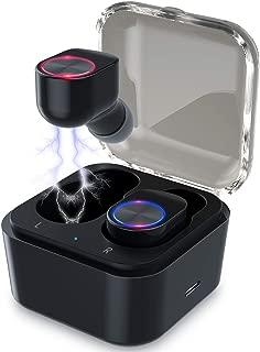 Upgraded Mini True Wireless Earbuds, TWS Bluetooth Earbuds Stereo Wireless Headphones Bluetooth 5.0 in-Ear Headset, Mini Earphones Charging Case IPX5 Waterproof 30H Playtime Sports Earpiece
