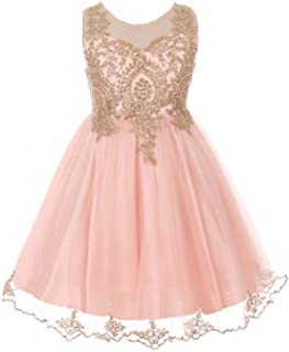 Little Girls Dress Sparkle Rhinestones Pageant Wedding Flower Girl Dress 4-18