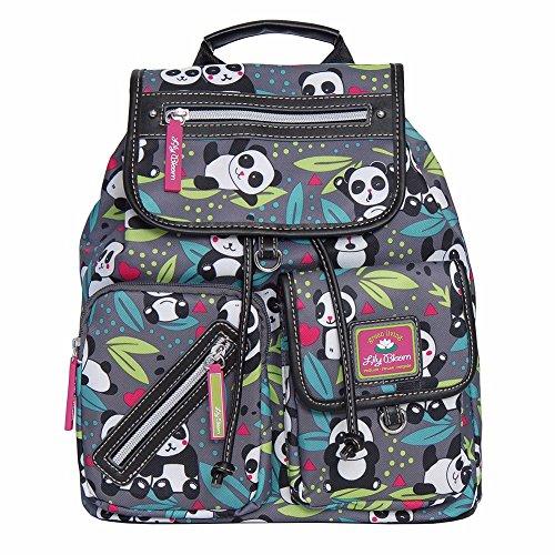 Lily Bloom Riley Multi-Purpose Backpack (PANDA POP)