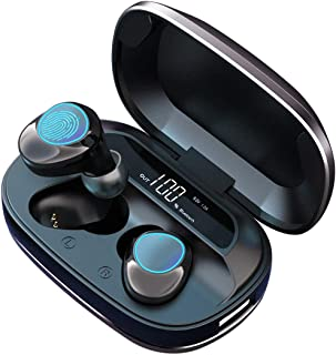 Bluetooth Wireless Earbuds, MakThing Sport Headphones with Charging Case, HiFi True Stereo Earphones with IPX7 Water-Resistant & Noise Reduction, Built-in Mic in-Ear Headset