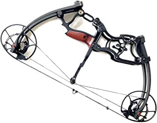 siciwinni 20'' Short Small Bow 40# - 65# Adjustable Triangle Compound Bow - Right & Left Hand Archery Hunting/Car/Fishing Bow