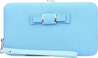 Ronshin Fashion Women Fashion Bowknot 2 Folding Snap Button Wallet Purse Card Bag