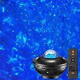lampada per proiettore galassia nuvola nera, lampada da soffitto LED musica cielo stellato, luce notturna portatile per bambini, telecomando, altoparlante bluetooth, timer, regalo festa di compleanno