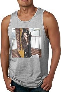 メンズ タンクトップ 歌手Selena Gomez サマースポーツとフィットネス トップス