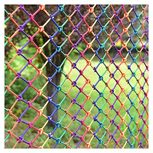 BWBZ Red de Seguridad de Nailon de Color Escalada Cuerda Neta Personalización del Soporte Grosor de La Cuerda 8 Mm (0,3 Pulgadas) Distancia Neta 15 Cm (6 Pulgadas) Red de Cuerda de Cáñamo Anti-caída
