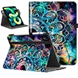 VORI Case for New iPad Air 4 10.9 2020, [360 Swivel] Multi-Angle Viewing Folio Stand Cover with Pocket, Hand Strap for iPad Air 4th Gen Support Auto Wake/Sleep, Mandala Galaxy