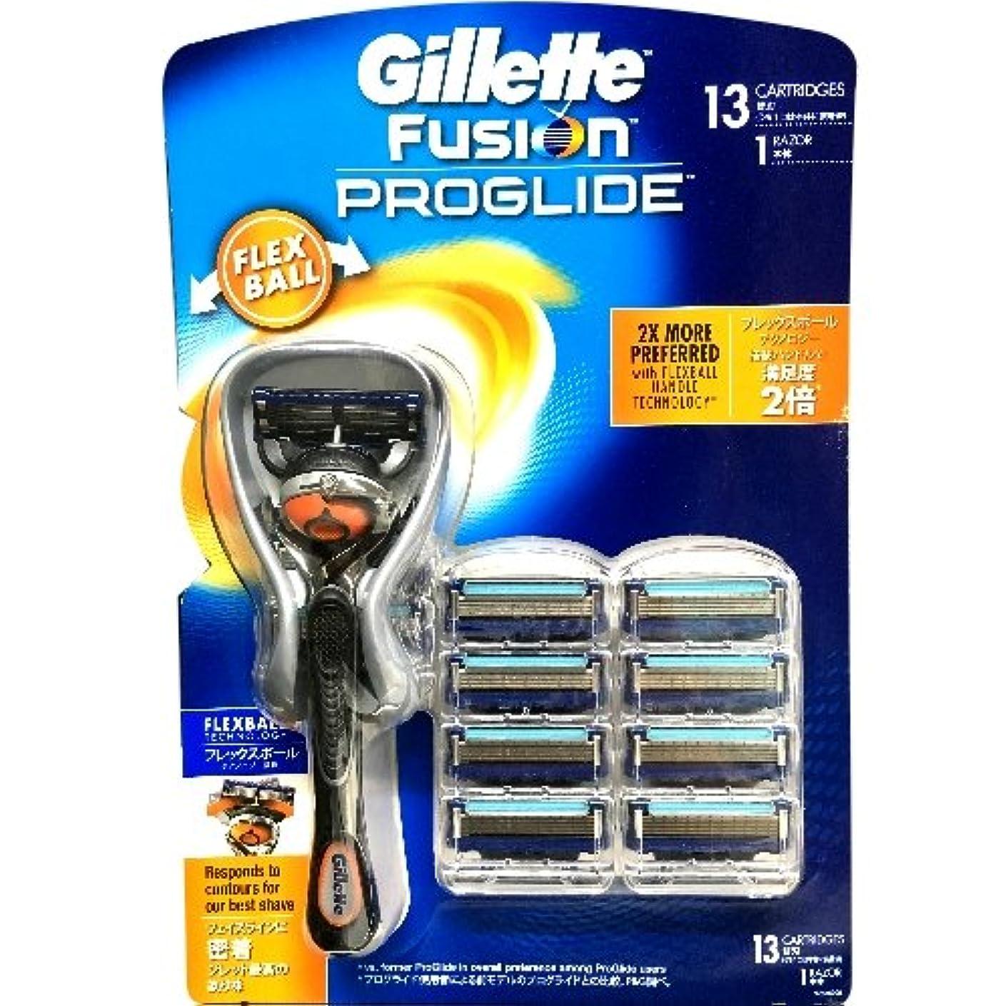 壮大呼び出す首尾一貫したGillette Fusion PROGLIDE ジレット フュージョン プログライド フレックスボール マニュアル ひげ剃り シェーピング 替刃13コ