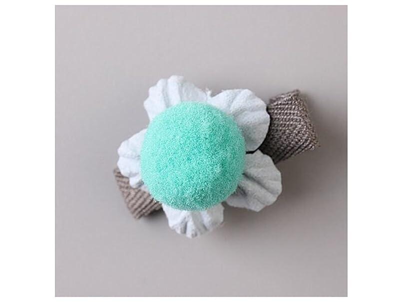 弾性トラフィックパイOsize 美しいスタイル 小さな花のヘアクリップ子供のかわいいサイドクリップヘアピンフラワーヘッドドレス(ブルー)