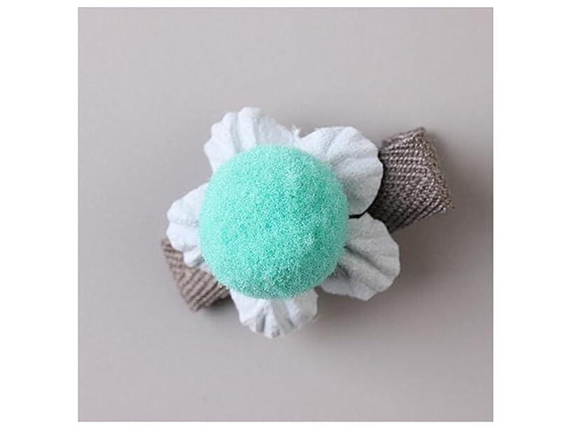 ニコチン承認またOsize 美しいスタイル 小さな花のヘアクリップ子供のかわいいサイドクリップヘアピンフラワーヘッドドレス(ブルー)