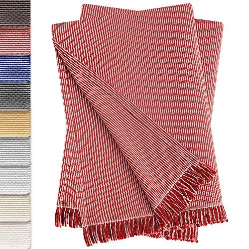 Vipalia 2er-Pack Mehrzweck-Tagesdecke, Sofa, Plaid, Bettüberwurf, Überwurf, Überwurf, bequem und weich, Qualität, Paul 180 x 260 cm, Rot