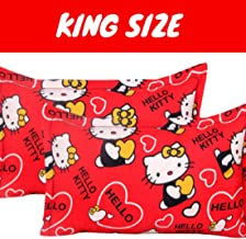 "BSB Trendz 2 Piece Cotton King Size Pillow Cover Set - 20""x30"" Color-Multicolor (Red)"