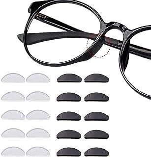 12 paar zelfklevende neuspads anti-slip siliconen bril pads voor glazen zonnebril bril bril 1,5 mm zwart transparant