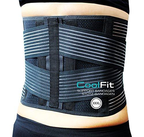 Prorelax Cool Fit Rücken-Stütz-Bandage. Für Bewegung ohne Schmerzen im Rücken (XXXL)