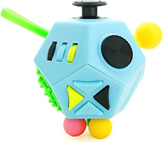 YUDOTE Fidget Toy 12 Sides Hand Dodecahedron Toys, Every Day Carry Fidgets Devices Relieves Stress and Anxiety Antidepression - for Children and Adult (Blue)