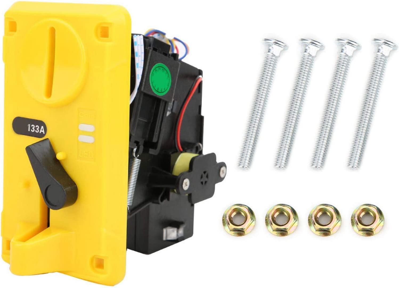 SALUTUYA -15 ℃ ~ + 15 ℃, con indicador LED, selector de Monedas, Plateado, Amarillo, DC + 12V ± 10%, para máquinas expendedoras de Productos de Bebidas(Yellow)