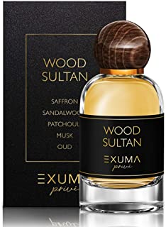 Exuma Prive- Perfume for Men-100ml- Exquisite Cologne Collection- Discover Musky Oud, Vanilla, Amber, Sandalwood, Leather, Saffron Varieties- Father's Day, Birthday, Anniversary Gift (Wood Sultan)