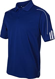 adidas Men's Climalite 3 Stripes Cuff Polo Shirt,...