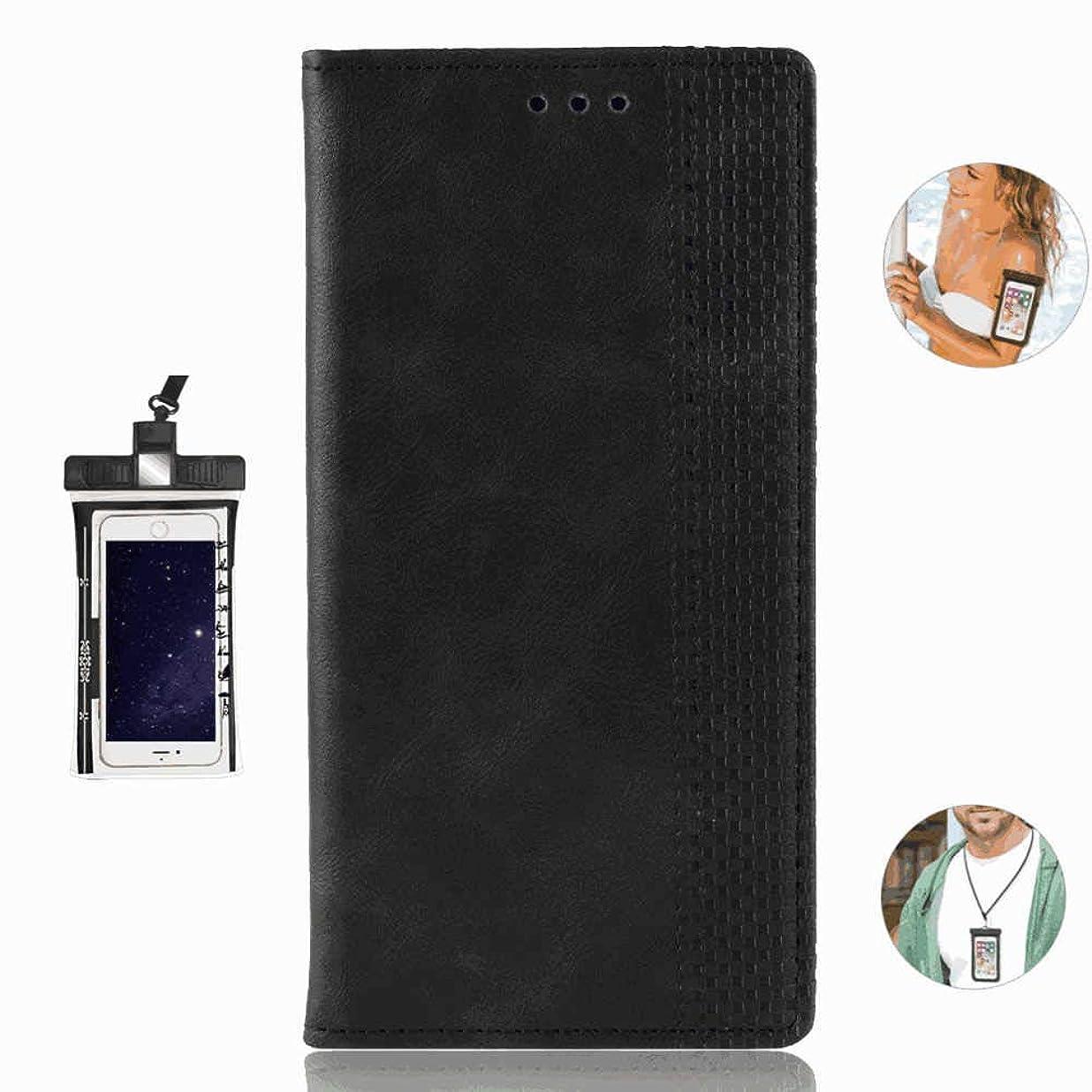 風邪をひく独創的フレキシブル高級PUレザー 手帳型 Huawei Nova4 ケース 本革 スマホケース スマートフォン ポーチ 財布 カバー収納 無料付防水ポーチケース