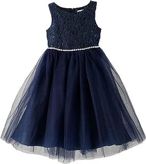 Catherine Cottage 結婚式 発表会 ウエストビジューのレースドレス 子供服 フォーマル 女の子 PC857