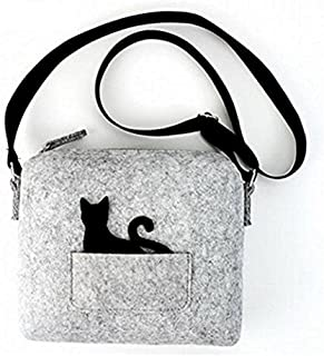 New Cat Small Bags Cat Felt Cross-body Shoulder Bag Purse for Girls and Ladies