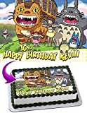 My Neighbor Totoro Edible Image Cake Topper Party Personalized 1/4 Sheet