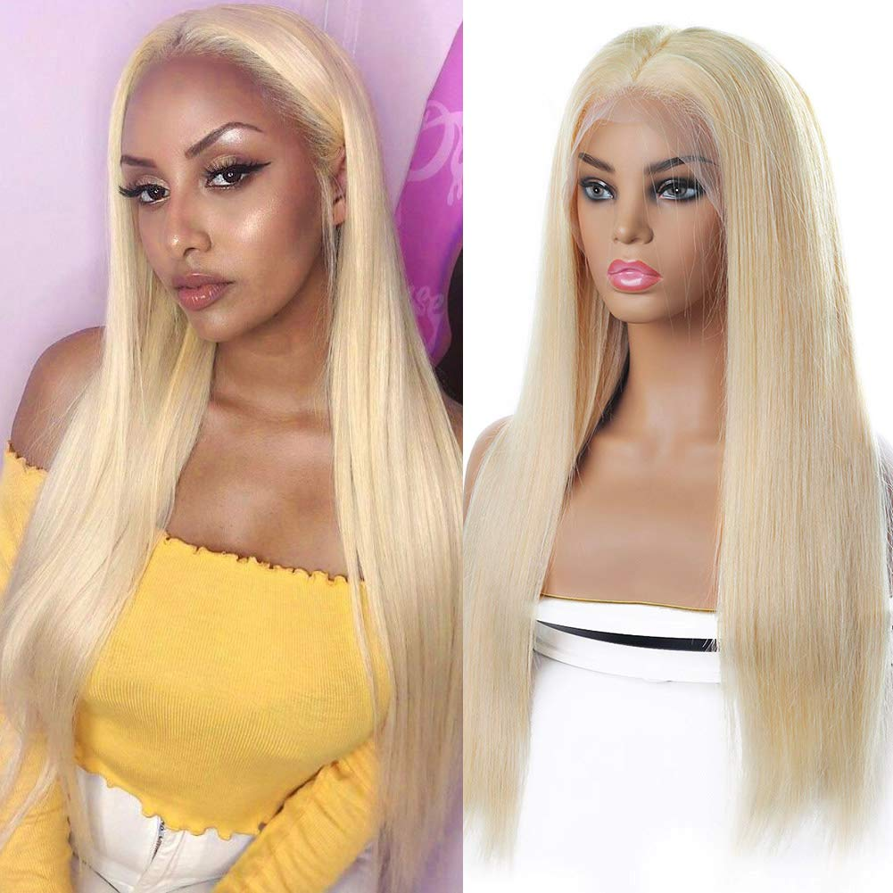613 Blonde Lace Max 73% OFF Front 40% OFF Cheap Sale Wig Human Hair 13x4x1 T S Plucked Part Pre