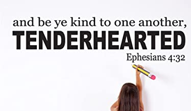 And Be ye Kind To One Another, Tenderhearted Wall Decals Stickers, Black, 48
