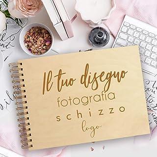 Guestbook matrimonio, libro delle firme e dediche in legno, tutto personalizzato, 100% su misura, per scrapbooking, idea r...