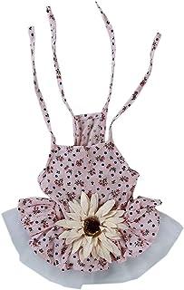 Yinew - Gonna a forma di fiore di sole, in pizzo, con stampa floreale, Cotone, Giallo, medium